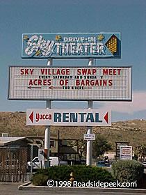 Roadside Peek Drive In Theatres California Desert 1